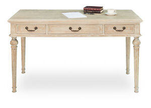 French Country Whitewash Wiston Desk nice Turned Legs home office 59 X 31 h