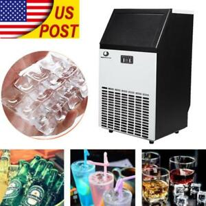 Commercial Ice Maker Built in Undercounter Freestanding Machine Stainless Steel