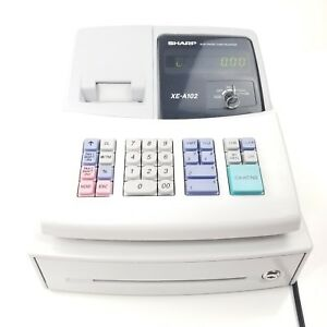 Sharp Electronic Cash Register Xe a102 With 1 Key