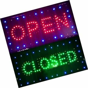 Bright Led 2 In1 Open Closed Store Shop Business Sign Neon Display Lights
