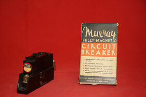Murray Manufacturing Fully Magnetic Circuit Breaker Cat No 1853 1 Pole 20a 125v