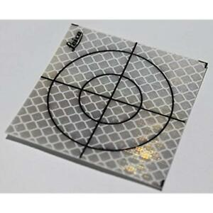 Horizontal Vertical Lasers 40x40mm Reflective Tape Survey Targets 100 pack
