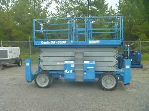 2007 Genie Gs5390 Rt Scissor Lift 53 4wd Dual Fuel
