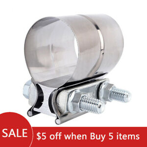 2 5 Stainless Steel Exhaust Band Clamp Lap Step For Catback Muffler Downpipe