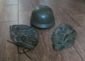 Military Helmet Wz 2014 Maskpol S.A Poland Army made with Kevlar w 2 pcs.covers