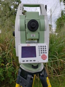 Leica Ts09 2 R500 Flexline Prismless Bluetooth Total Station W Large Color Disp