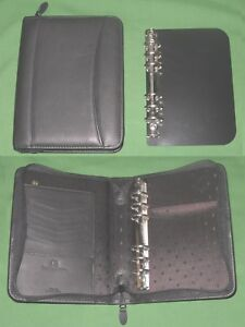 Compact Removable 1 0 Ring Base Black Leather Franklin Covey Planner Binder