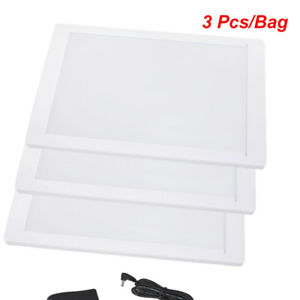 3pcs bag Portable Safty Dental X ray Film Illuminator Viewer Light Panel Screen