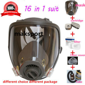 Gas Mask Filter Full Face Facepiece Respirator For 3m 6800 Dust Paint Spra