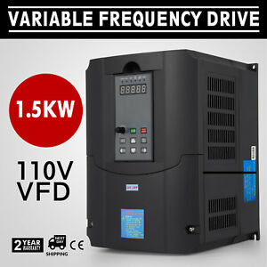 1 5kw 110v Variable Frequency Drive 2hp Vfd Speed New Solutions Single Phase
