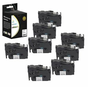 8pk Replacement Tze231 Black On White 1 2in 26 2ft Label Tape For Brother Ptouch