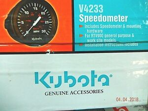 Kubota Rtv900 Rtv500 Speedometer Kit V4233 K7561 99650 Utility Vehicle utv