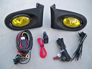 02 04 Acura Rsx Dc5 Jdm Yellow Fog Light Kit Harness Switch Complete Type S