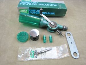 NICE! RCBS NO.09000 Uniflow Powder Measure Combo Large & Small Cylinder With Box