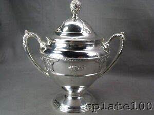 Wallace Rosepoint Silver Plate Covered Sugar Bowl