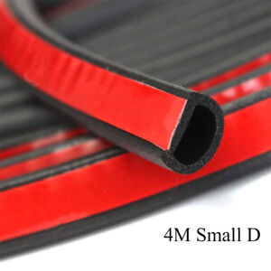 Weatherstrip Small D Shape Car Door Window Rubber Weather Seal Strip Dust Proof
