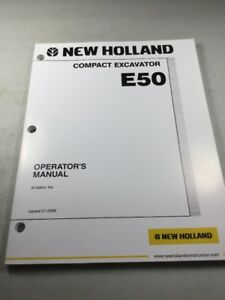 New Holland E50 Excavator Operators Manual