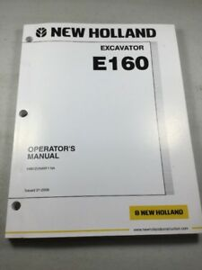 New Holland E160 Excavator Operators Manual