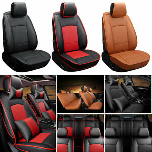 5 seat Auto Seat Covers For Ford F 150 2010 2016 Pu Leather Full Front rear Set