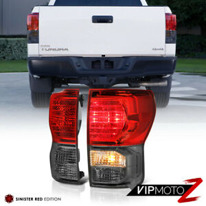 For 07 13 Toyota Tundra deep Red Smoked Tail Light Brake Lamp Left Right Set