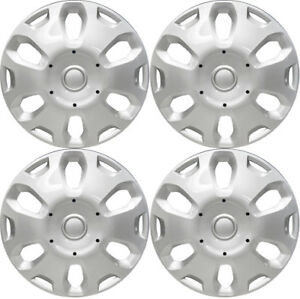 New Set Of 4 15 Inch Silver Aftermarket Wheel Covers Hubcaps For 10 12 Transit