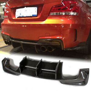 Fit For Bmw E82 1m 2011 13 Rear Bumper Diffuser Lip Spoiler Carbon Fiber Refit