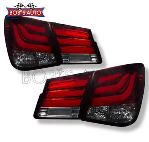 For 10 15 Chevy Cruze Dark Red Smoke Neon Tube Super Bright Led Tail Lights Pair
