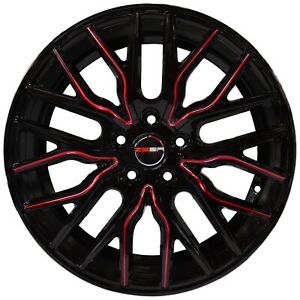 4 Wheels 18 Inch Black Red Flare Rims Fits Toyota Camry V6 2012 2018