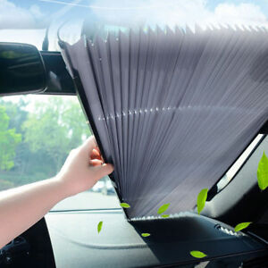 Car Retractable Curtain With Uv Protection Front Windshield Sun Visor Auto Shade