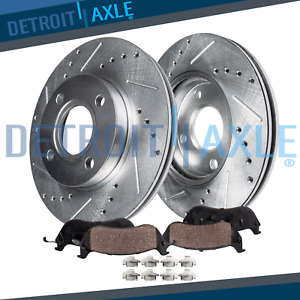 2 3l Front 1998 2002 Honda Accord Drilled Slotted Rotors Ceramic Brake Pads