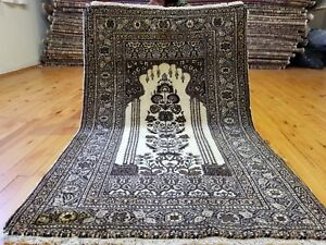 Beautiful Vintage 1950 1960 S Wool Pile 2 10 X 4 5 Bunyan Prayer Rug
