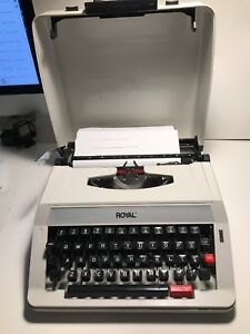 Vintage Royal Olivetti Me 25 Premier Plus Portable Manual Typewriter Hard Case