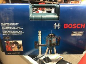Bosch Self Leveling Rotary Laser Complete Kit Grl 250 Hvck New