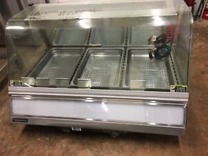 Roundup Dch 320 Countertop Curved Glass Heated Hot Food Display Case