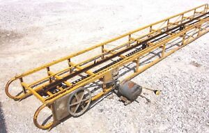 Used 16 Ft Square Hay Bale Elevator With Electric Motor we Ship Cheap
