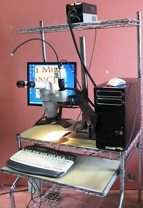 Nikon Smz800 Stereo Microscope With Light Source Pc Software Camera And Cart