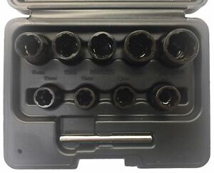 Welzh Werkzeug 10pc Special Twist Socket Set 10 19 3 8 Drive 4090 Turbo Sockets