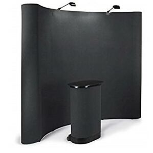 10 Tradeshow Display Booth With All Accessories With Black Carpet Panels And L