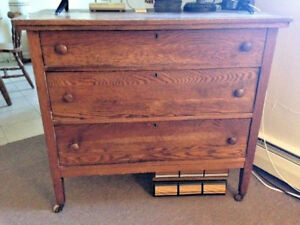 Antique Primitive Federal Chest Wood Dresser 3 Dovetail Drawers Early 1800s