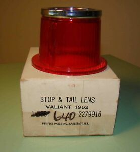 1962 Plymouth Valiant Tail Lens Nors Glo brite In Original Box Part 640