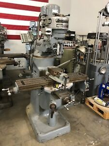 Bridgeport Milling Machine J Head Belt pulley Power Feed Vise And Tooling