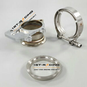 3 0 Turbo Downpipe Flange V Band Clamp Kit For Cummins Holset Wh1c Hx35 Hx35w
