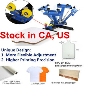 Us 4 Color Screen Printing Screening Pressing 1 Station 3 Screen Printing Platen