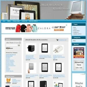 Ebook Reader Kindle Store fully Automated Affiliate Business Website For Sale