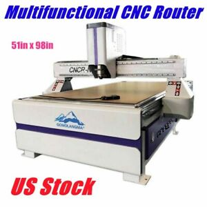 Usa 51 X 98 Ad Woodworking Cnc Router Machine Vaccum Table Pump Dust Collector
