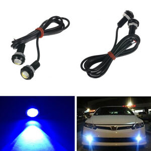 2pcs Car 9w Led Cob Eagle Eye Light Drl Daytime Running Lamp Fog Lights 12v Blue