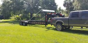 Roll Off Dumpster Trailer 36 Inch Rails For Industrial Dumpsters