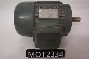 Worldwide 1 Hp Weci 143t Ac Motor 3 Phase 230 460v 1760 Rpm mot2334