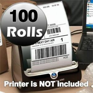 100 Rolls Of 220 1744907 Thermal Shipping Labels 4x6 Compatible Dymo 4xl Printer
