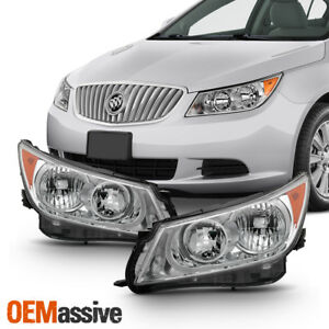 Fit 2010 2011 2012 2013 Buick Lacrosse Driver Passenger Side Halogen Headlights